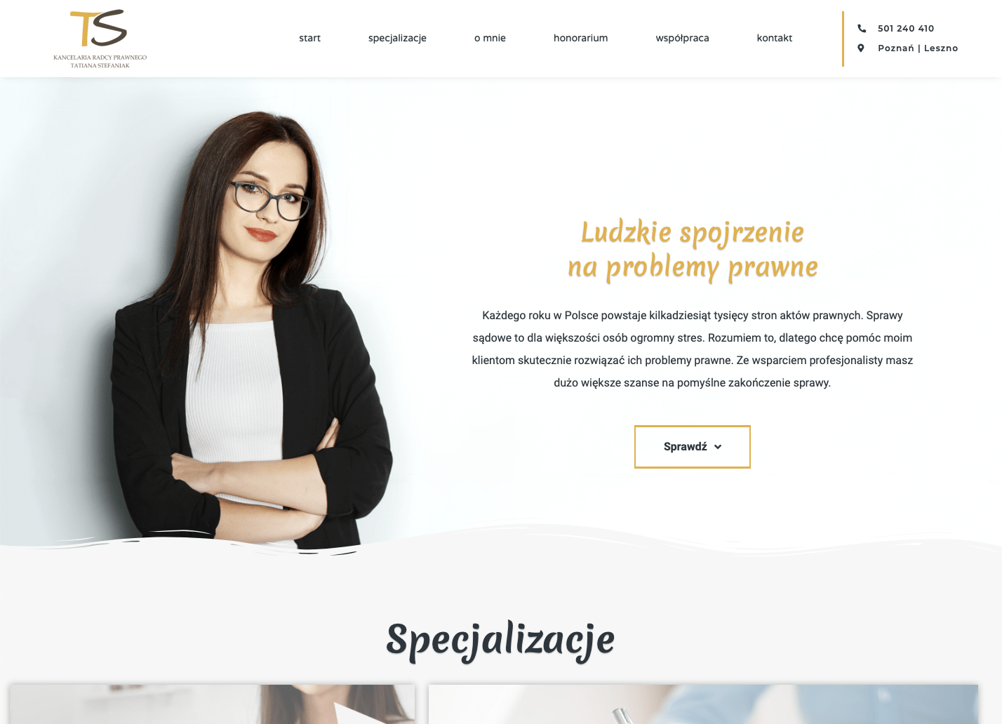 Realizacja strony internetowej - kancelariastefaniak.pl